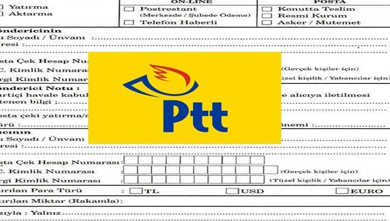 PTT İsme Para Gönderme