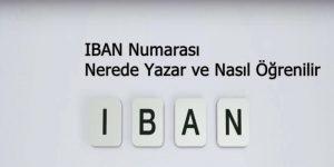 IBAN numarası nerede yazar