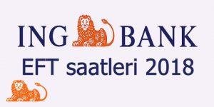 ING Bank EFT saatleri 2018